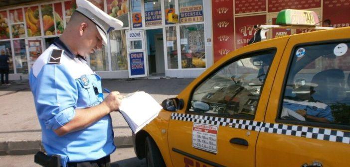 Zeci de taximetriști verificați la modul în care respectă normele legale. Au fost aplicate 23 de amenzi și un permis de conducere sespendat pentru alcool la volan