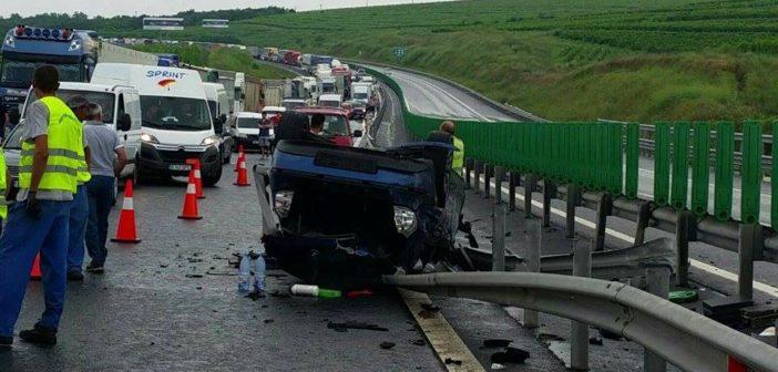 Accident rutier pe autostradă, sensul de mers Sebeș-Deva. Circulația este blocată