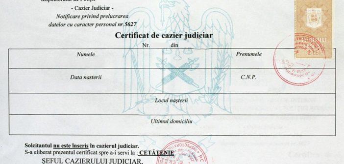Cerere Cazier Judiciar Bucuresti