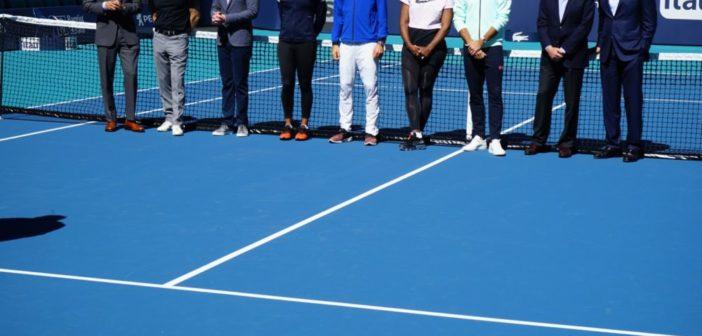 La Miami Open a avut loc tăierea panglicii din cadrul ceremoniei de inaugurare a noii case, Hard Rock Stadium