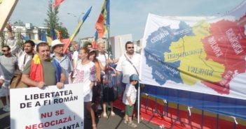VIDEO : La manifestația contra maghiarizării României s-a cerut abrogarea Codului Administrativ.